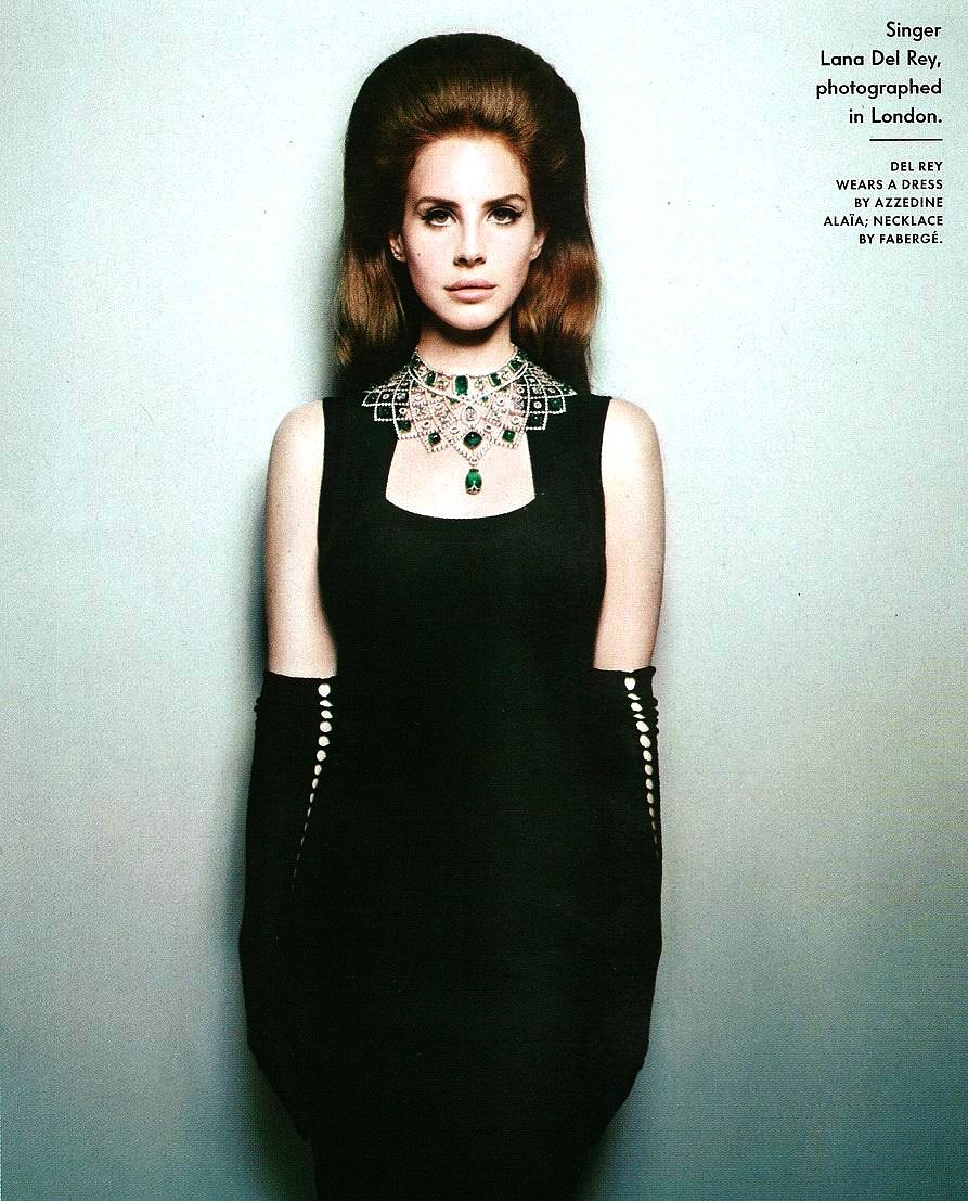 Lana del rey on the december issue of Vanity Fair 2012