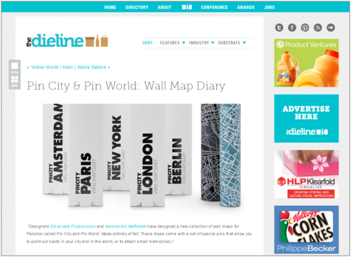 Pin City/Pin World on The Dieline