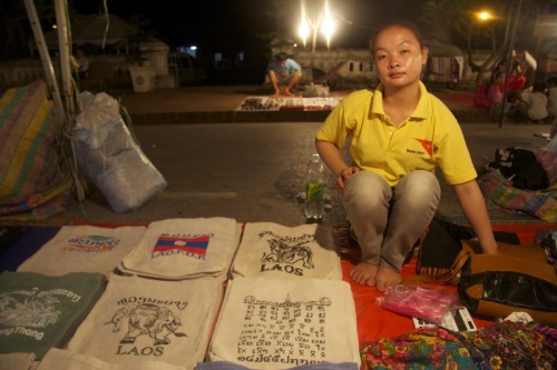 Bags for sell, Luang Prabang night market