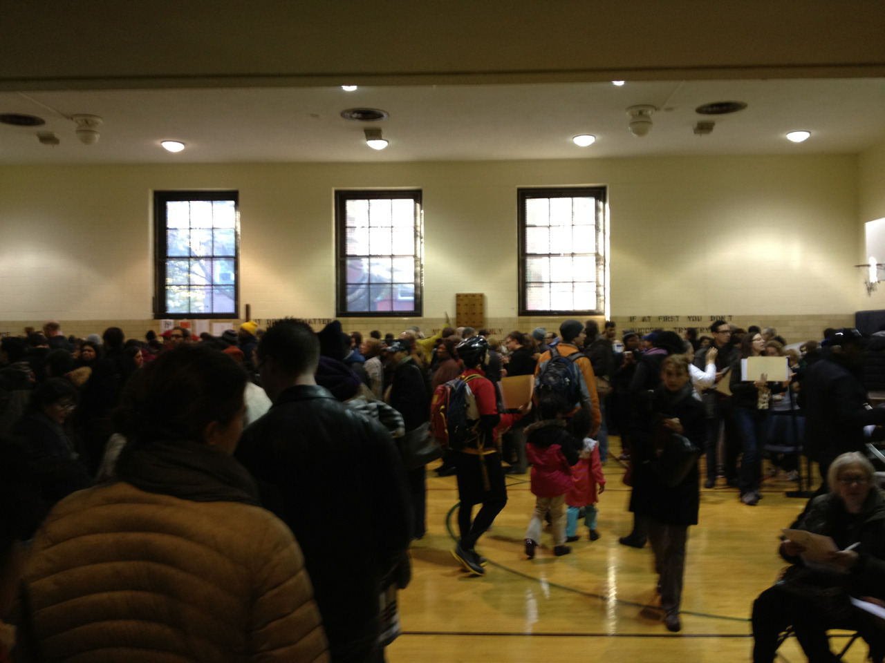 PS 9 is full of voters!