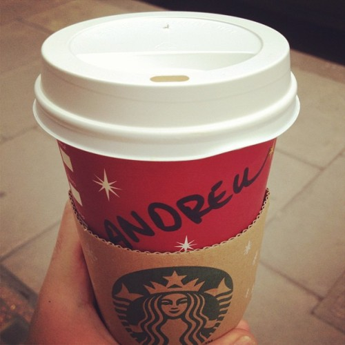 #EggnogLatte for Lou-Andrew! They got it right! 😁 #Starbucks #RedCup #Festive (at Starbucks)