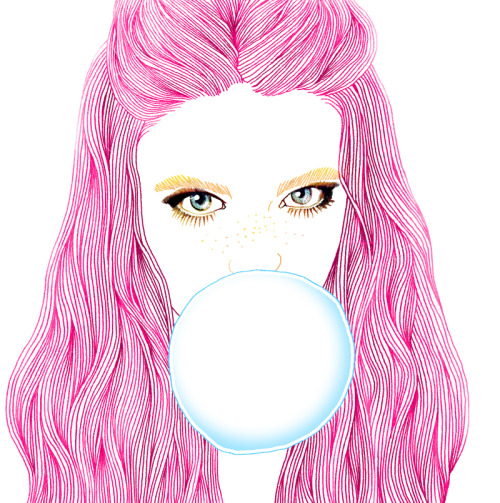 Hajin Bae (a.k.a. Soulist-Aurora) | on Tumblr - Bubble gum girl