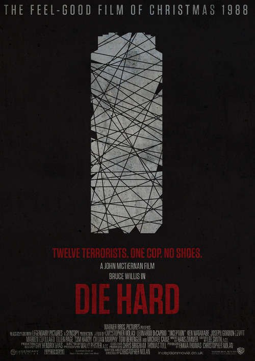 Boredom fueled poster for the 80's classic 'Die Hard'.