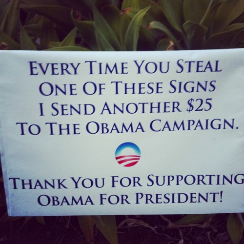 Saw this sign on my run this morning. #election