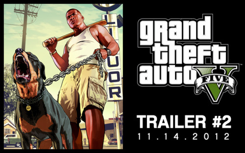 officialgta:  The 2nd trailer for GTA V will debut next week on Wednesday, November 14th!  :O