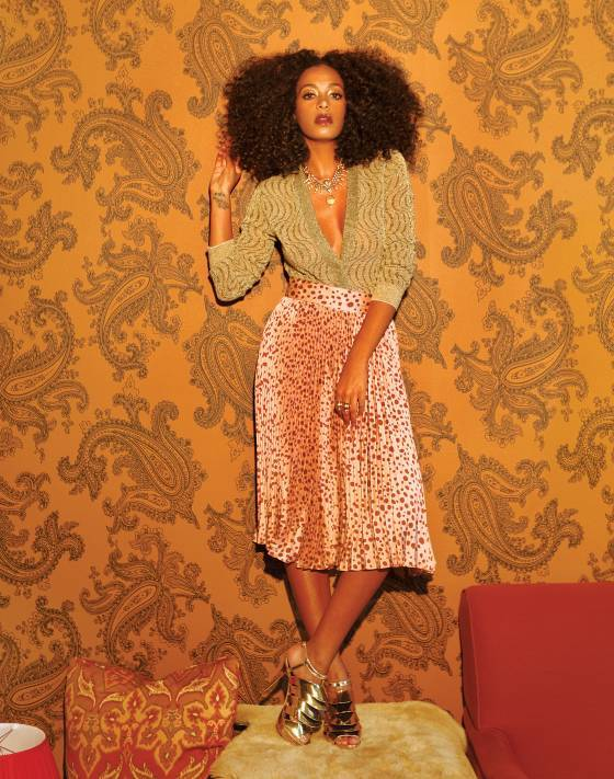 "Solange in Vulture:  ""I made my entire record on my own from top to bottom,"" she says. ""Everything from studio-equipment rentals to actually creating a studio. The entire album has been about me calling my friends, like, 'Will you make a video with me?' 'Okay, cool. Let's do it.'"""