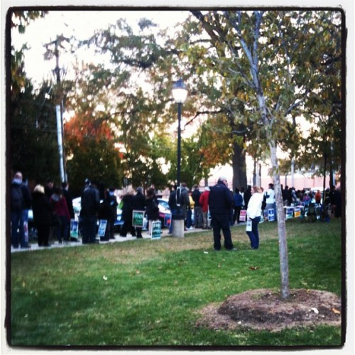 Most important two hour wait of the year. #election2012 (at Lee Center)