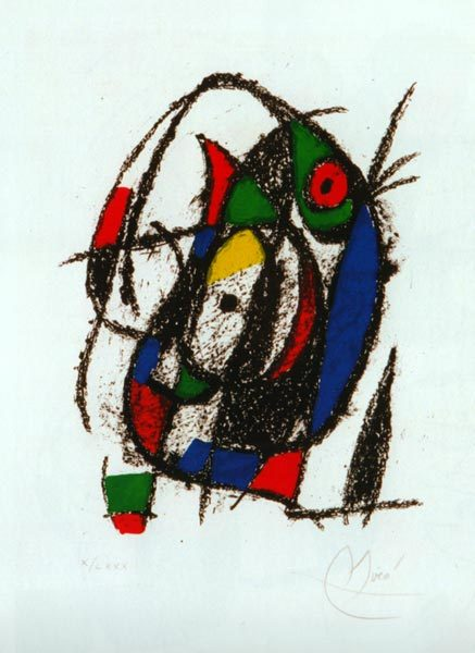 Lithograph, by Joan Miro
