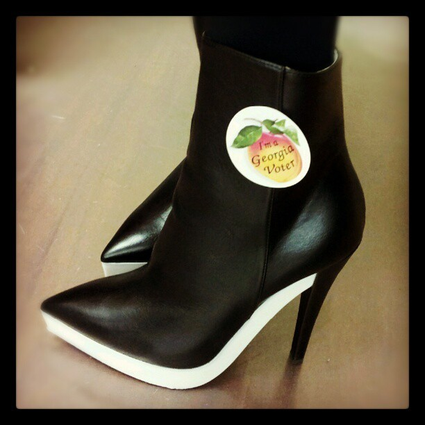 My @stellamccartney boots from @matchesfashion went to vote today!