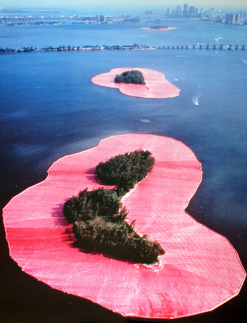 Christo and Jeanne-Claude,Surrounded Islands, Biscayne Bay, Greater Miami, Florida, 1980-83