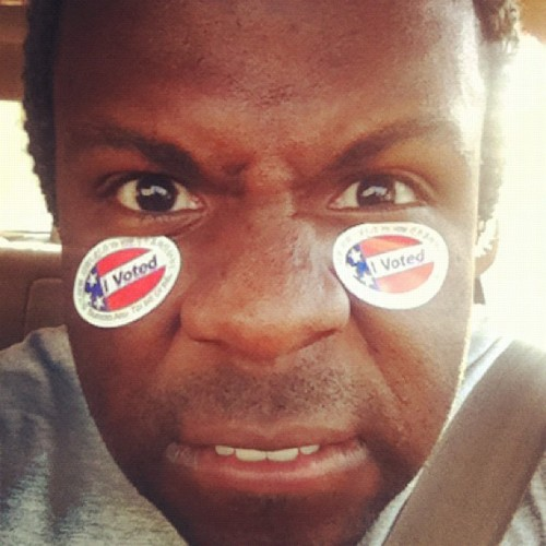 That's that Mitt I don't like! #iVoted #FourMoreYears #Obama #MoveForeward #Chicago #Democratic #MyPresidentIsBlack