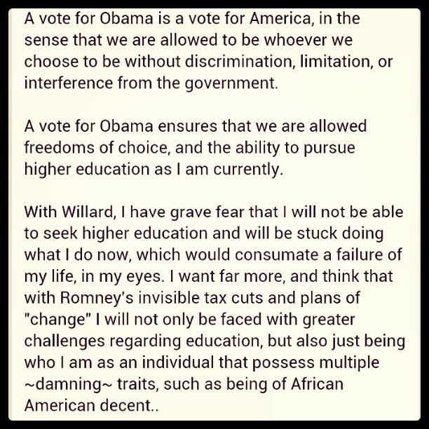 qnowledge:  #obama #vote #election2012