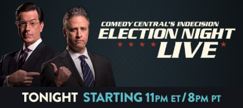 thedailyshow:  Tonight: The Daily Show's Live Election Show streams live online. For people who prefer to watch TV on tiny screens on their lap. #DailyShowLive http://on.cc.com/TGENIT Complete details on streaming for all devices.