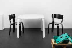 Bento chair and table by Form Us With Love for One Nordic Furniture Company.