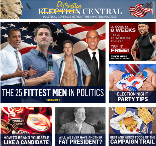 Haven't had enough political coverage for today? Then check out the Men's Health Election Center!