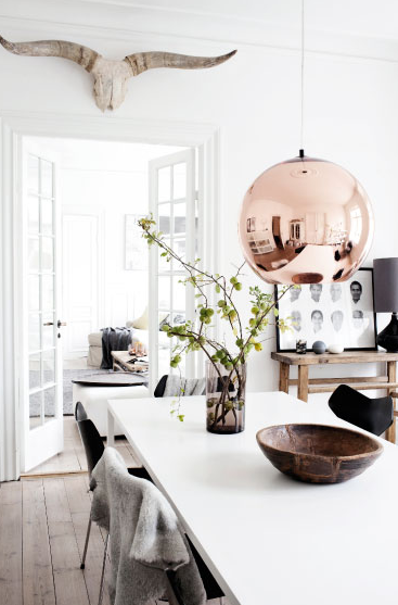A home in Denmark. Photo from Femina.