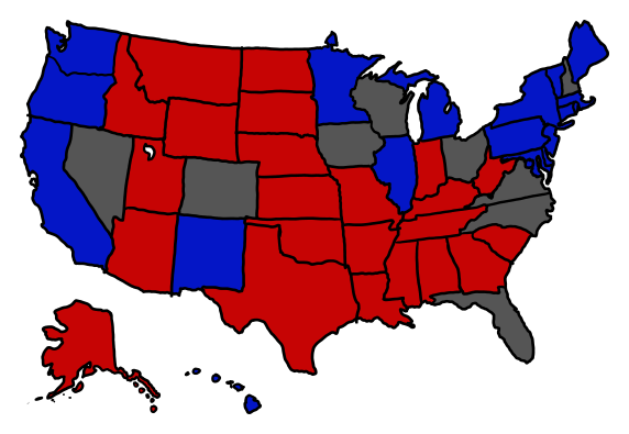 "What if Every Swing State Tied? Today's XKCD's ""What If"" topic poses and absurd, if fascinating question.  What if there was a tie in the election?  Not an electoral college tie, or a single swing state tie, but what if every swing state's vote were split down the middle between Mittens and BO?  Lots of math ensues regarding the odds, but what is most fascinating  and terrifying, is that should there be a tie, many state laws would dictate ""drawing lots"" which could mean a simple coin toss to determine the outcome. Check it out  - XKCD What If?"