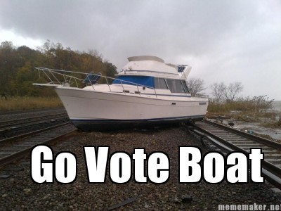 laughingsquid:  Go Vote Boat