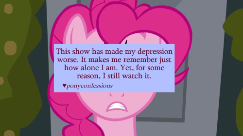 ponyconfessions:   This show has made my depression worse. It makes me remember just how alone I am. Yet, for some reason, I still watch it.    The sense of Friendship and love you get from being a part of this perfect world for twenty-eight minutes is addicting.