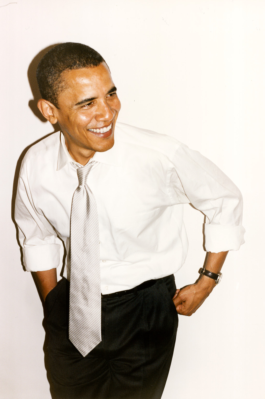 terrysdiary:  Obama at my studio #4