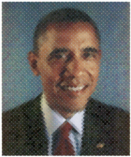 BARACK OBAMA WINS RE-ELECTION! Chuck Close at 534 West 25th Street will reopen Monday, November 12th, upon completion of repairs to the gallery. © Chuck Close, courtesy Pace Gallery