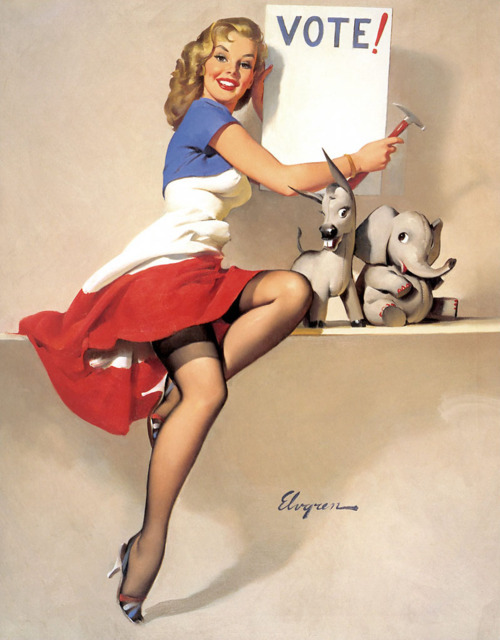 Gil Elvgren - Its Up to You (1958)