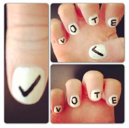 Get out the vote with our election day manis! How-tos at girlslife.com…