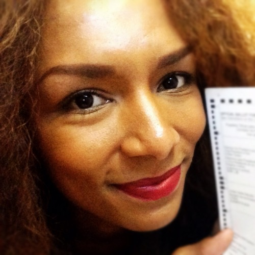 I'm a woman. I'm black. I'm trans. And I voted.  Oh, I'm human, too; sometimes a vain one. Hence the red lip at 8am. Click here to see state-by-state laws on documenting your vote.