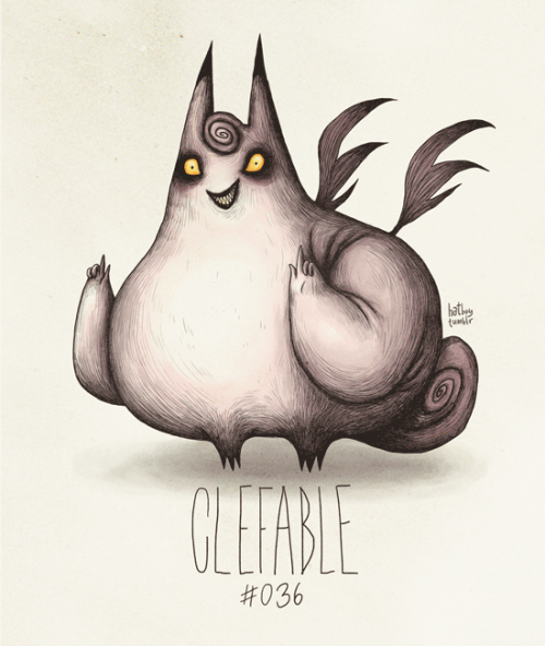hatboy:  Clefable #036  Part of The Tim Burton x PKMN Project By Vaughn Pinpin ……………………. On a side note, Americans. Don't forget to vote! #DFTVA I hope you don't mind this friendly reminder attached with this Pokeman. Now go and make history happen. :>