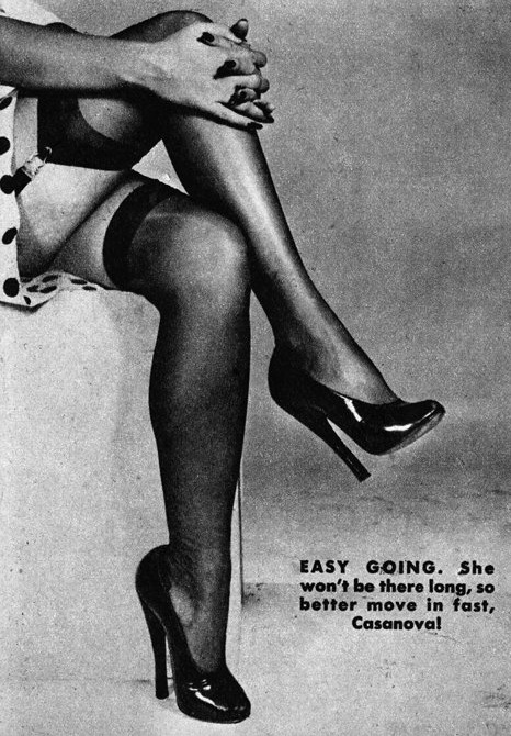 Legs Reveal the Woman Type #7 (Easy Going) c.1950 detail from an image found here vintage scans
