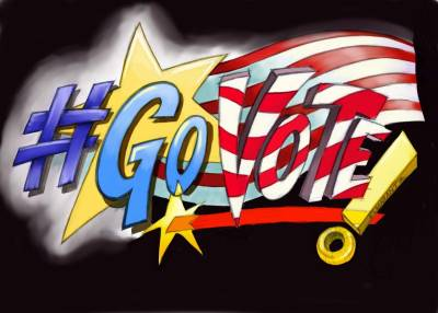 Larissa Marantz's Patriotic #GoVote artwork Click here to find your polling station and share these images with your friends to make sure they #GoVote as well. For more #govote images and to submit your own go to: govote.org