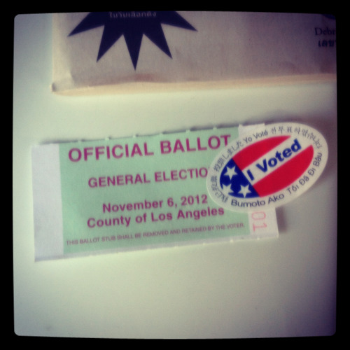First time voting