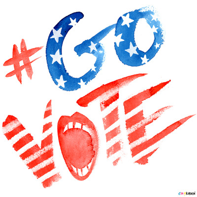 Some hand-painted type by Karen Kurycki to remind everyone to #GOVOTE. Click here to find your polling station and share these images with your friends to make sure they #GoVote as well. For more #govote images and to submit your own go to: govote.org