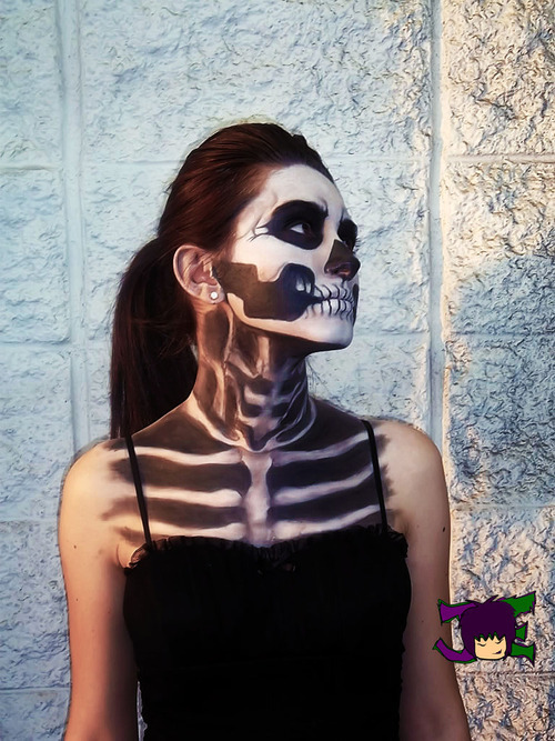 Entry Submission for Halloween Theme Makeup  A Darling Love Model/Client: Itzel Diaz Makeup Artist: Jeanette Evans Photographer: Daniel Villa Theme: Skeleton Event: Halloween     Follow and or like please, it means a lot for you to show your support! I will provide new photos of my work daily for you.  Also, thanks to those who have followed and liked my page. You guys keep me motivated to be the best I can as a makeup artist and I love you all<3  Official Web || http://jeanetteevans.com/ Fan Page || http://facebook.com/JeanetteEvansArtistry