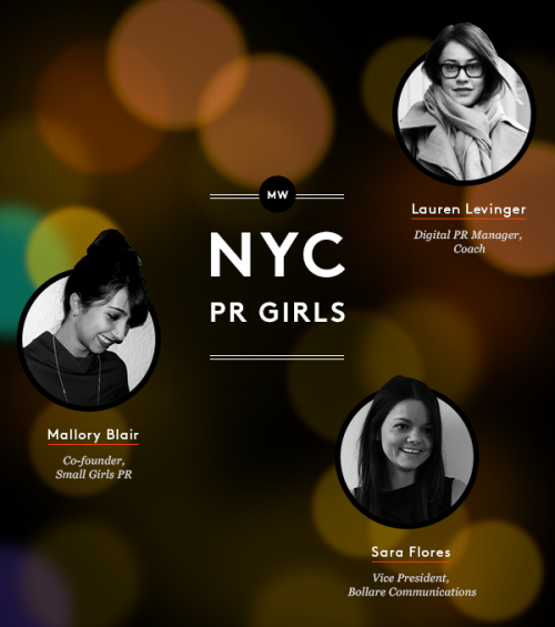 smallgirls:  Material Wrld selected their favorite fashion PR pros to take a sneak peek into their closets this week. Our co-founder Mallory was selected as one of their featured publicists alongside two badass babes we truly admire. With a virtual closet between the VP of Bollare and the PR Director of Coach, the curation has been making the rounds today on public relations-focused media. Click-through to check out some of Mallory's most treasured items as well as some you can shop and have mailed to your door. If you've ever wondered what it was like to take a walk in Small Girls shoes, now's your chance.  Loving being alongside Sara Flores and Lauren Levinger in this NYC PR Girls triptych.