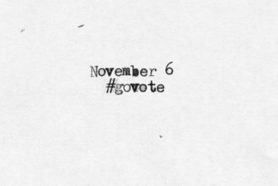 typewrittenword:  Happy Election Day! Visit govote.org and go here to find your polling station.   TypeWrittenWord.  It's a thing. Look into it. :)  But only after you #GoVote Click here to find your polling station and share these images with your friends to make sure they #GoVote as well. For more #govote images and to submit your own go to: govote.org