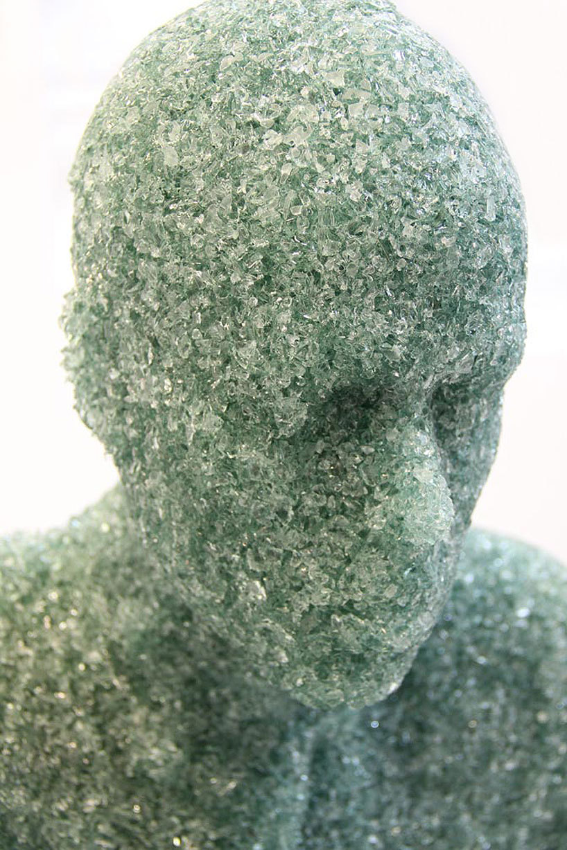 Shattered Glass Sculptures by Daniel Arsham