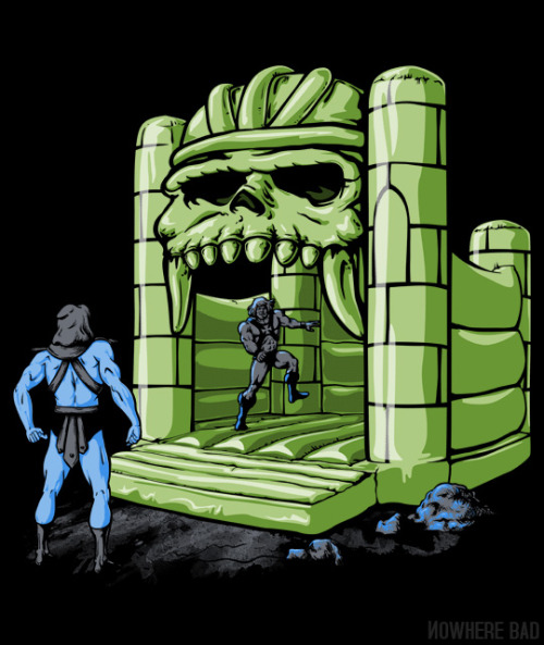 A great new shirt for the young at heart Eternians.  Bouncy Grayskull by Griggitee is now on sale for $12 / 3.5 days at www.nowherebad.com