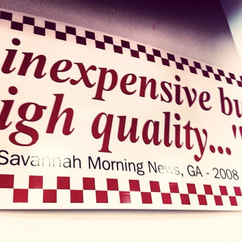 #Savannah Morning News quoted in Brooklyn Five Guys.  (at Five Guys)