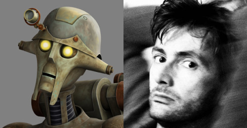 "Doctor Who's David Tennant Guests on Star Wars: The Clone Wars - IGN  Star Wars: The Clone Wars has had several great guest stars over the years known for iconic roles in other popular genre franchises, including George Takei, Simon Pegg and Katee Sackhoff. But for the first time, a Doctor is coming to the series, as none other than David Tennant appears on this coming Saturday's ""A Test of Strength."" The episode continues the story arc begun last week, as a group of young Jedi set out to build their first lightsabers. The former Doctor Who star will voice Huyang, a droid who is a crucial part of this journey. When it came to getting Tennant to appear on The Clone Wars, Filoni remarked, ""As a fan that has the privilege of playing in the Star Wars galaxy, I am always on the lookout for others who appreciate, and would enjoy, an opportunity to go on an adventure in George's galaxy far, far away. When I heard the Doctor himself, David Tennant, was a fan of Star Wars I knew I had to find a way to get in contact with him to see if he would perform on The Clone Wars. The result was 'Huyang,' an ancient droid in the service of the Jedi Order, whose sole task in life has been overseeing the construction of lightsabers. I thought David was perfect for the part and he did not disappoint. He delivered a performance which impressed even the Master himself, George Lucas."""