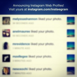 team @instagram comes through big time // *tips hat 🎓 // #kudos #instagram #fb #app #web #crosspollinate #igersWorldwide