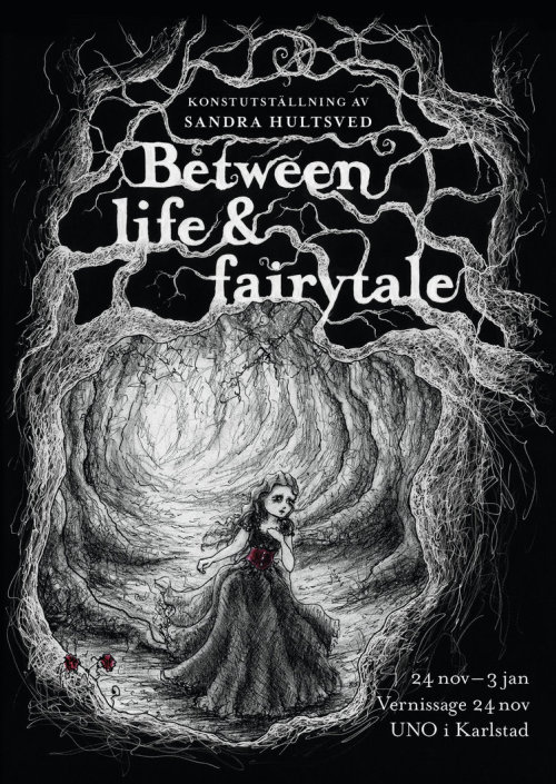 "Welcome to a world between life & fairytale!""Between life & fairytale"" is an art exhibition by Sandra Hultsved, where she shows her personal artworks created in pencil, ink and oil paint. On Nov 24th it will have its opening night!>Go to event< Please share and spread the event to your friends!^^"