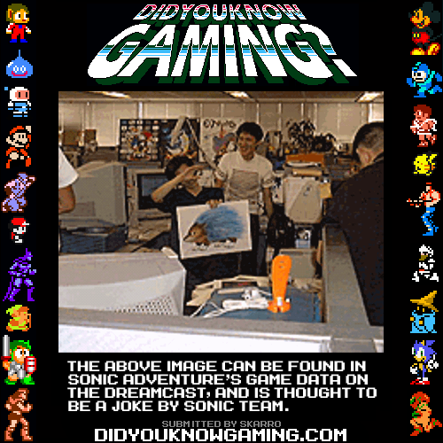 didyouknowgaming:  Sonic Adventure. http://tcrf.net/Sonic_Adventure#.3F.3F.3F  close enough