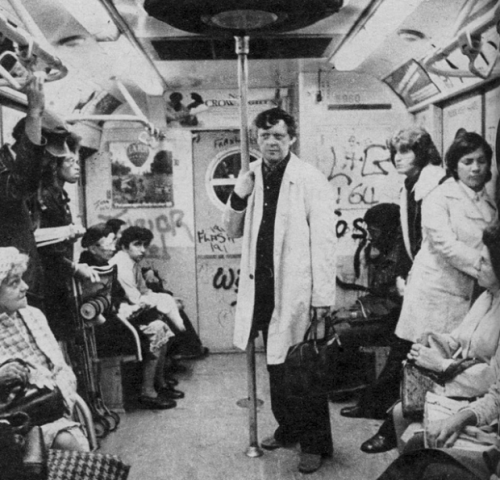 Anthony Burgess rides the New York City subway