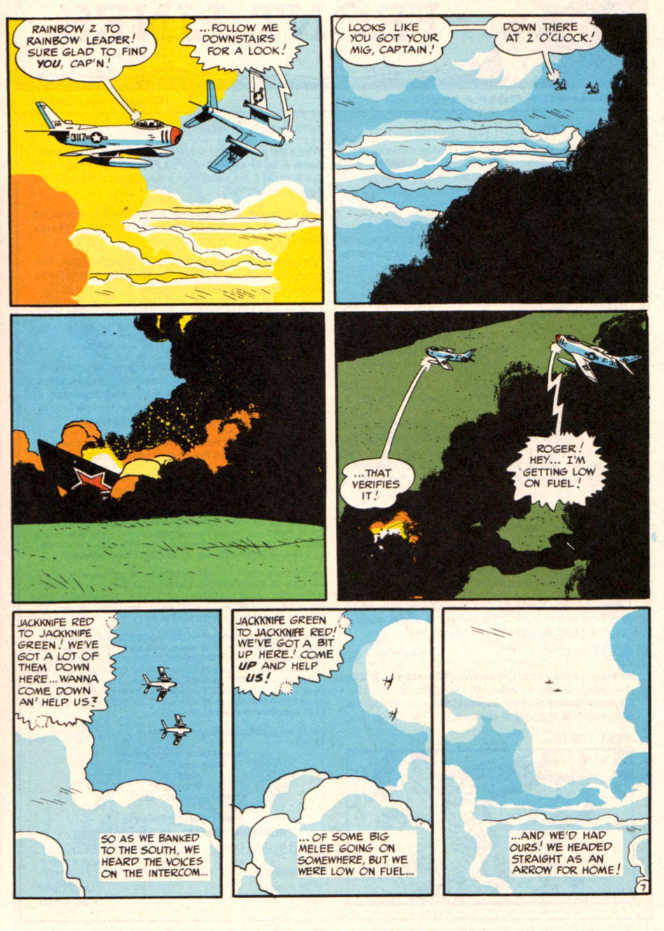tothlove:  F86 Sabre Jet - Harvey Kurtzman and Alex Toth page 7 END