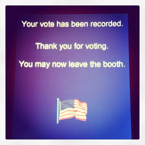 America! #ivoted (at Menlo College)