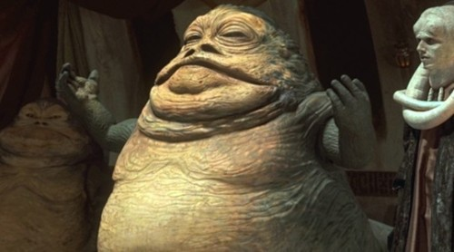 Jabba the Hutt on Extreme Makeover Weight Loss Edition Chris Powell has had some interesting cases, but can you just imagine what he'd make of Jabba? He'd have the Hutt huffing and puffing and dancing around in one of his slave outfits in no time flat. Read more: Star Wars Characters We Want on ABC Shows