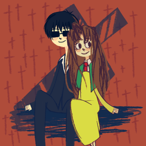 fuckyeahanimecouples:  art trade milly and wolfwood by ~pastingcorners