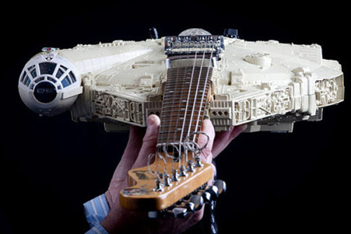egotripland:  These STAR WARS guitars might be the illest thing you see all day. More pix and more guitars: HERE (props MTVHive, etc.)  ILL.