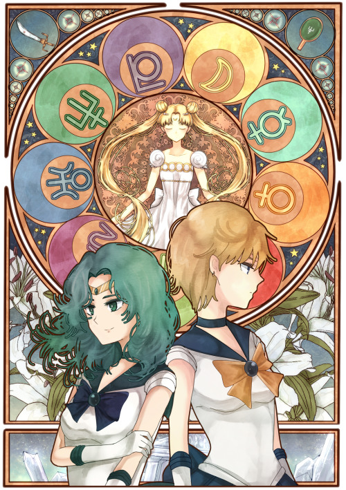 yuka716:  Sailor Uranus and Neptune